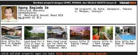 Agen Agung Bagiada Property Consultant of Century 21 Heavenly Bali