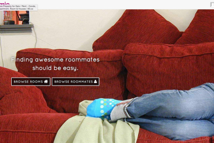 homie.co landing page photo