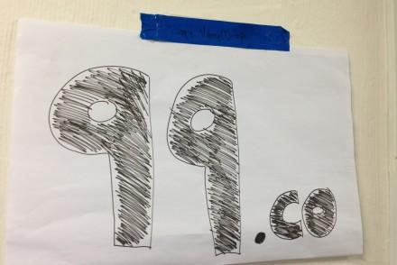 99.co hand-drawn logo
