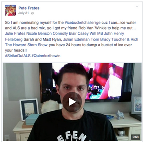 Peter Frates ignited the ALS Ice Bucket Challenge