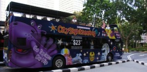 city sightseeing hop-on hop-off bus in singapore