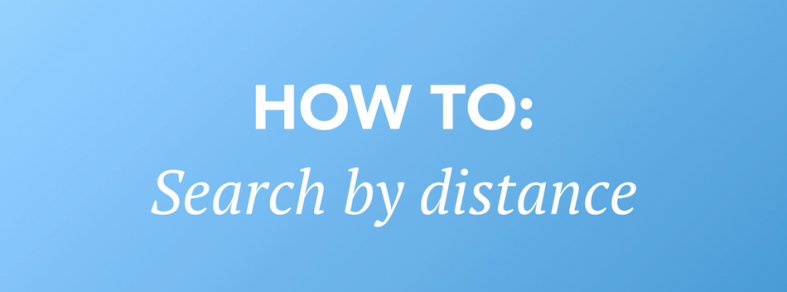 99.co video Tutorial on how to search by distance