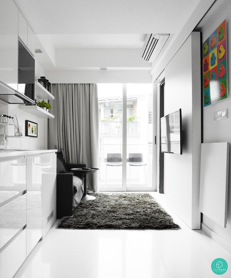 Smart designs for small spaces in singapore homes for Apartment design singapore