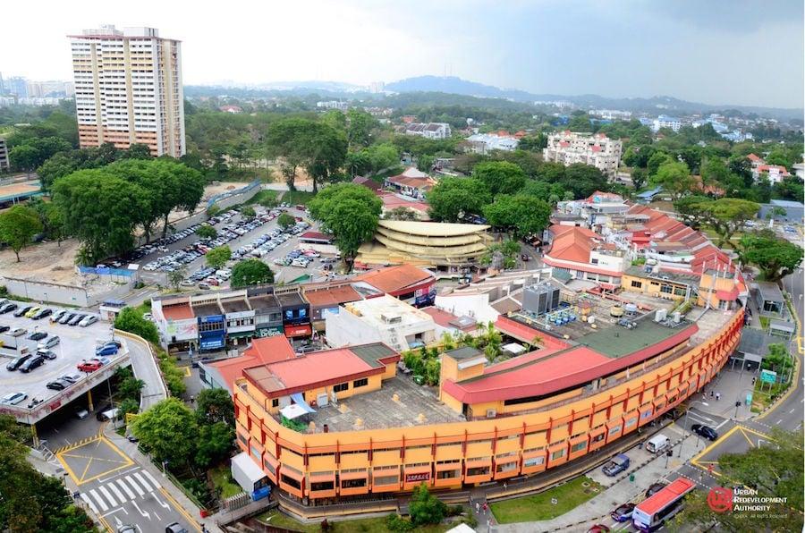 Singapore Holland Village aerial photograph neighbourhood