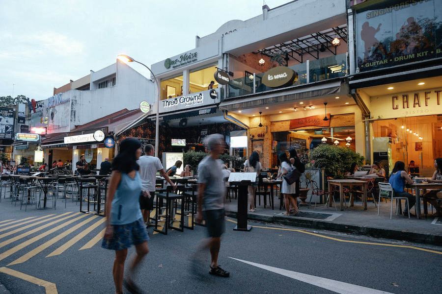 Singapore Holland Village neighbourhood restaurants craft three crowns