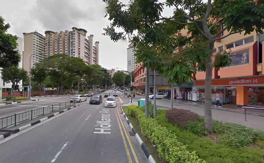 Singapore Holland Village holland avenue neighbourhood HDB buildings Google Maps image capture