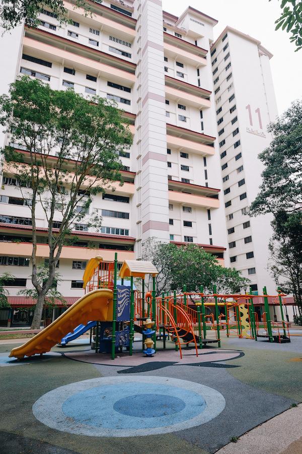 Singapore Holland Village holland avenue neighbourhood HDB buildings