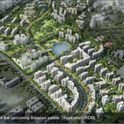 Artist's impression of the upcoming Bidadari Estate