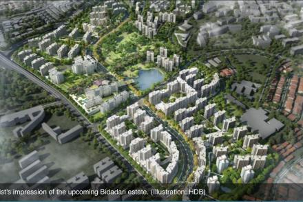 Artist's impression of the upcoming Bidadari Estate