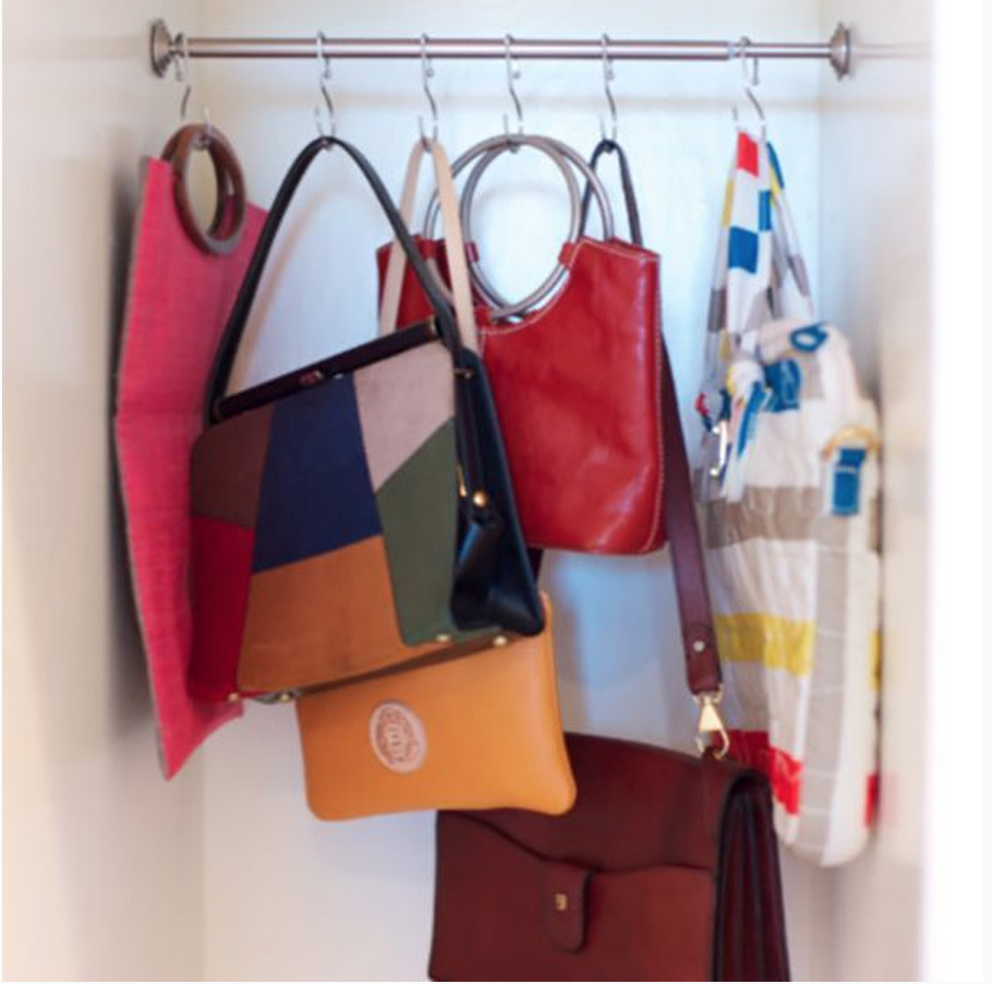 14 practical storage solutions for your bags - Small space bags ideas ...