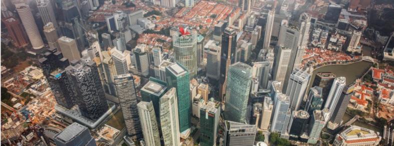 Singapore CBD aerial shot