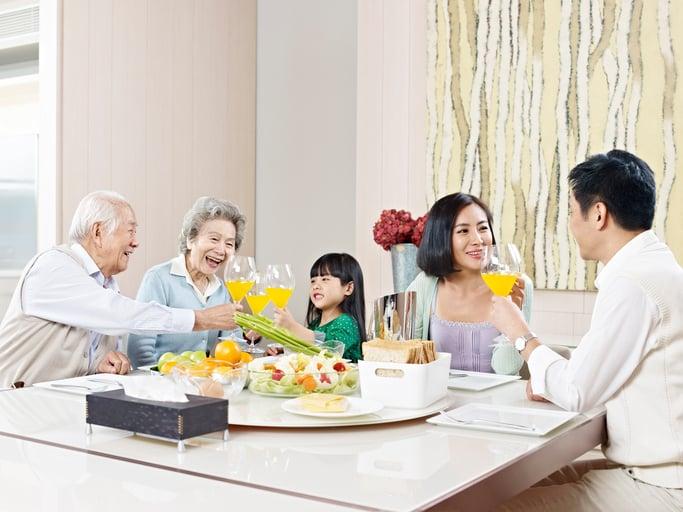 Dinner in a Multi generation HDB