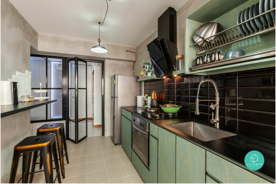 6 brilliant 4 room hdb ideas for your new home Kitchen door design hdb