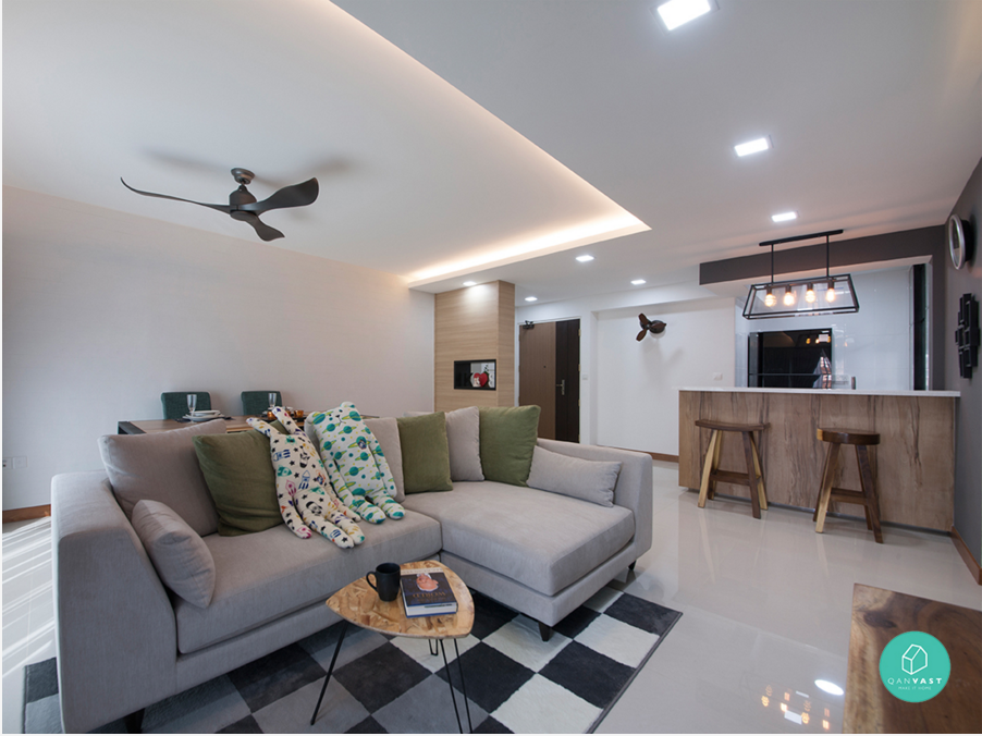 6 brilliant 4 room hdb ideas for your new home for Living room ideas hdb