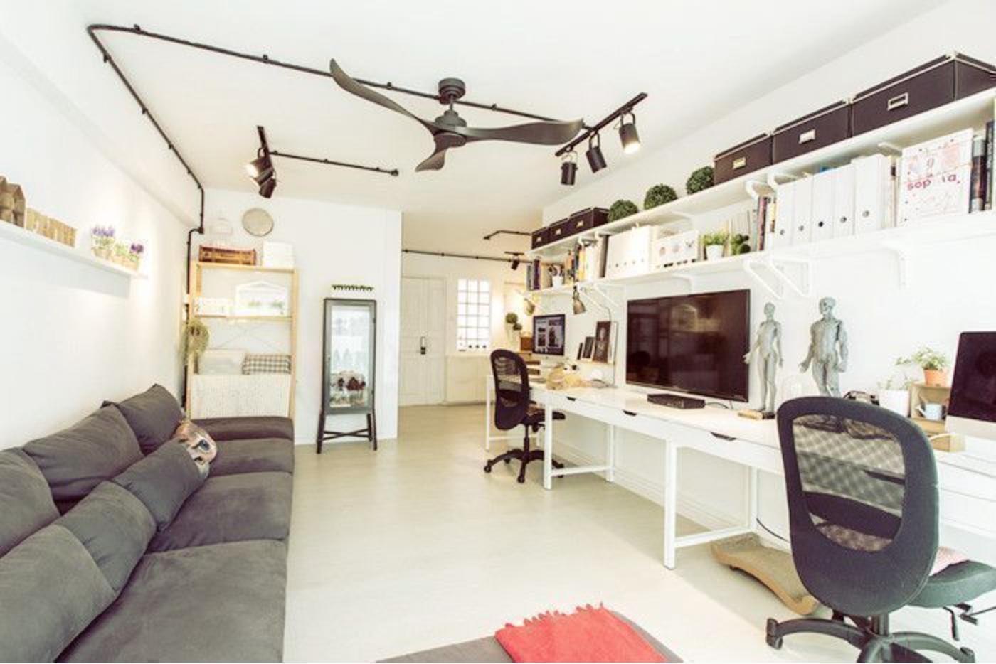 house tour: a creative couple's dreamy ikea-filled flat - 99.co