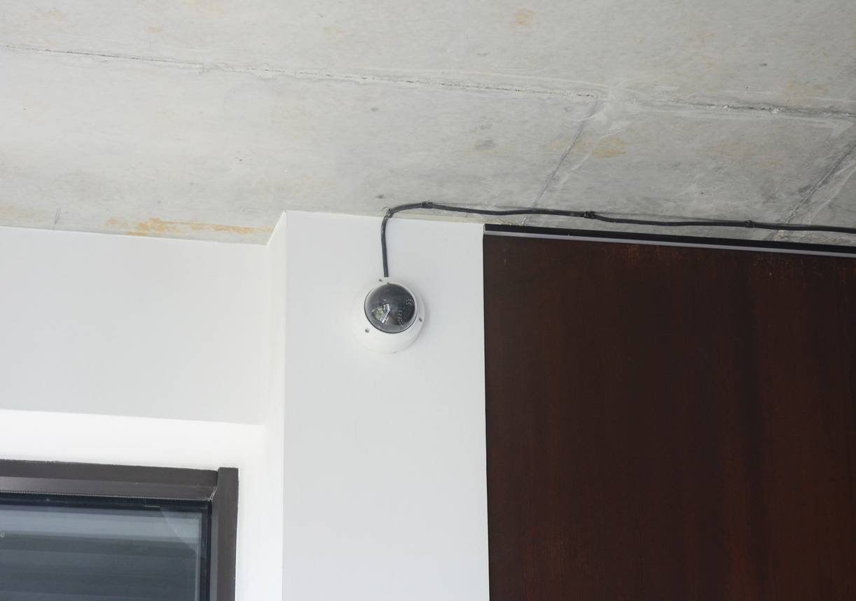 security camera in condo