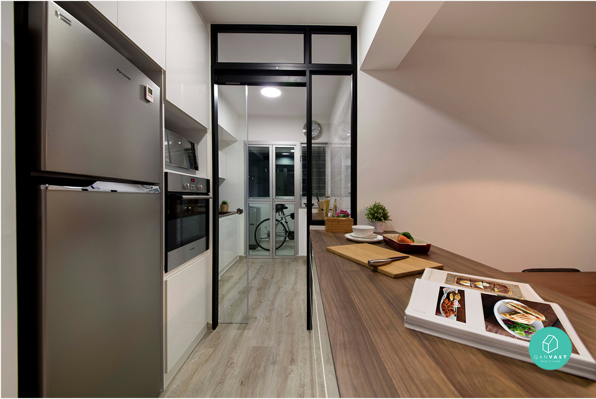 Renovation journey modern monochrome for Open concept interior design