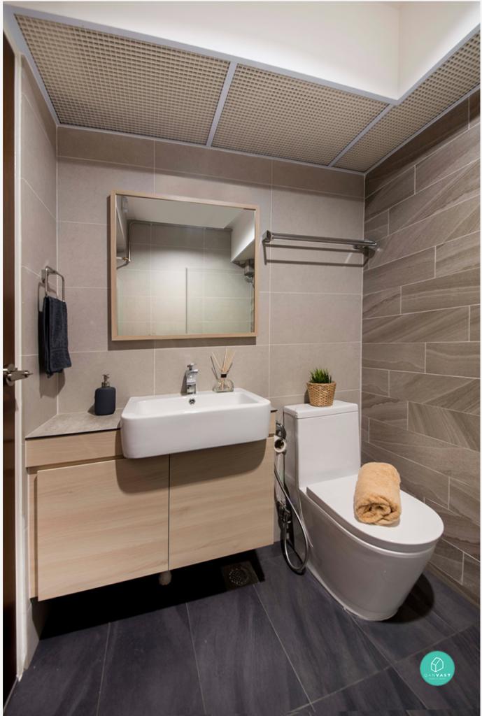 Renovation journey modern monochrome for Bathroom interior design singapore