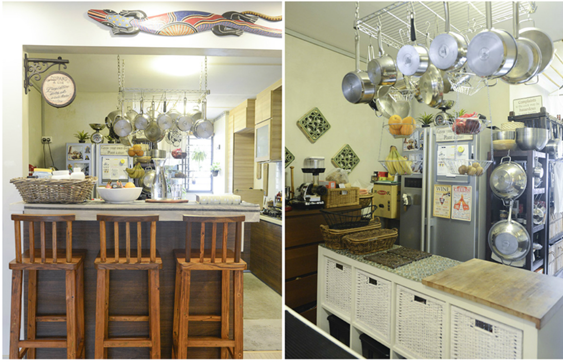 Balinese Kitchen Design House Tour Bamm And Christinas Balinese Style Hdb Home