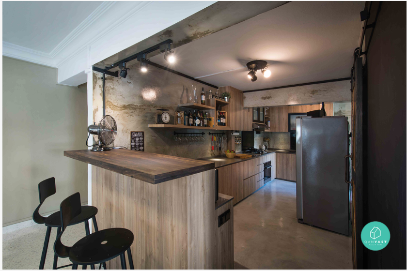 Kitchen Island Hdb Flat space-enhancing hacks for small homes: the open kitchen concept