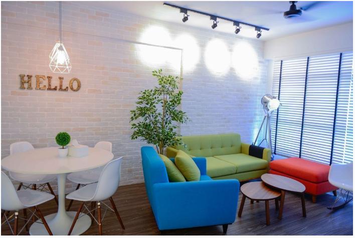 colourful sofa set for hdb renovations