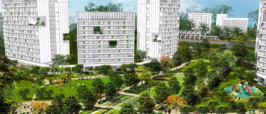 Artist impression of Tengah Forest Town