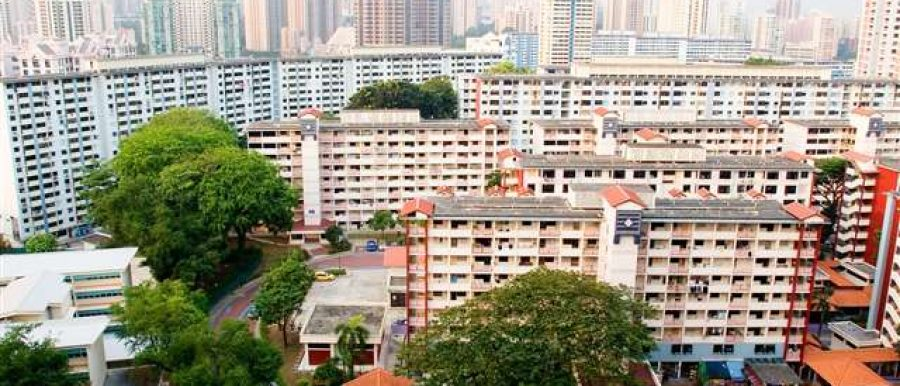 HDB buildings in Singapore. Buying resale hdb for the first time