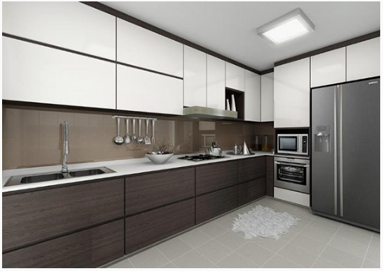 Corner Upper Cabinet Modern Kitchen