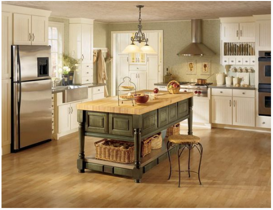 l shaped kitchen work triangle real photo