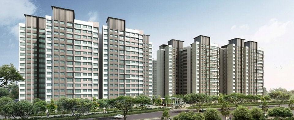 View of HDB flats