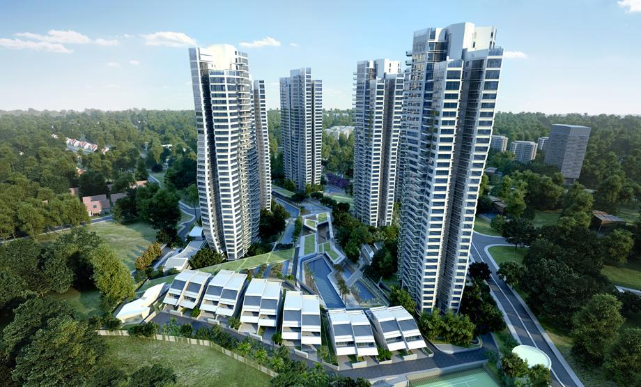 D'leedon at Farrer Road, one of the many concept condos in Singapore, tries to be faux French with its name