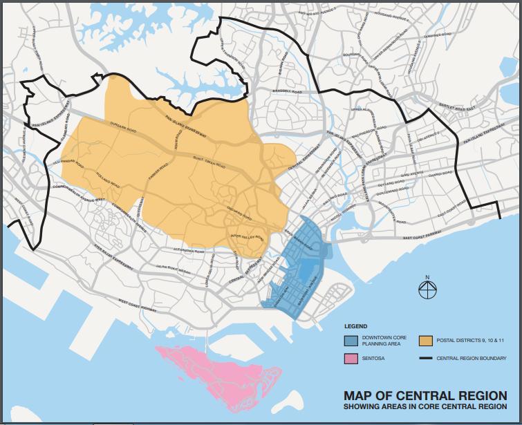 URA Core Central Region CCR map