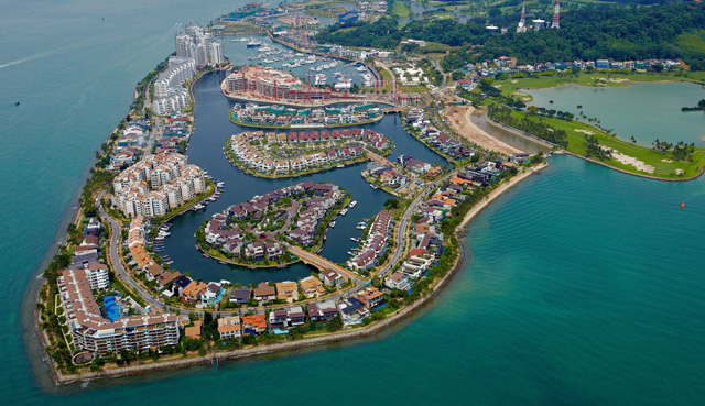 The prospect of waterfront living is the key selling point of Sentosa Cove
