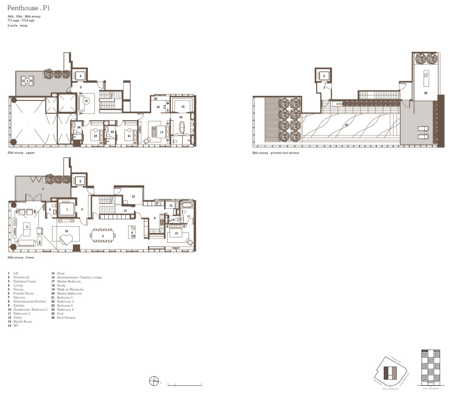 luxury penthouse floor plan twentyone anguilla park