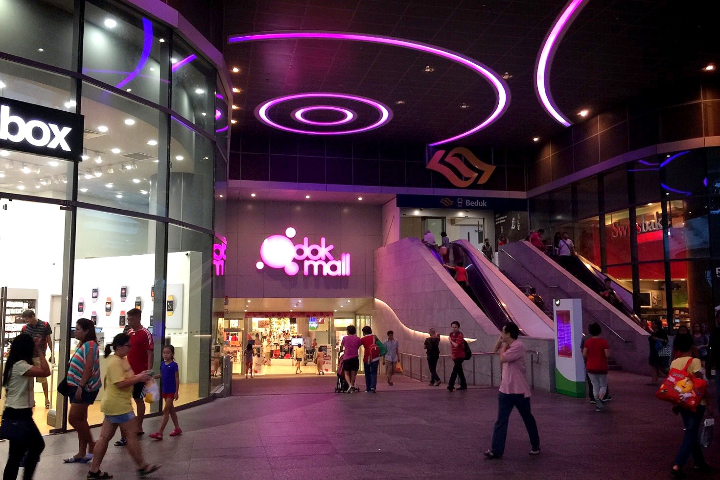 Bedok Mall and Bedok Point are two malls which serves the residents in the area