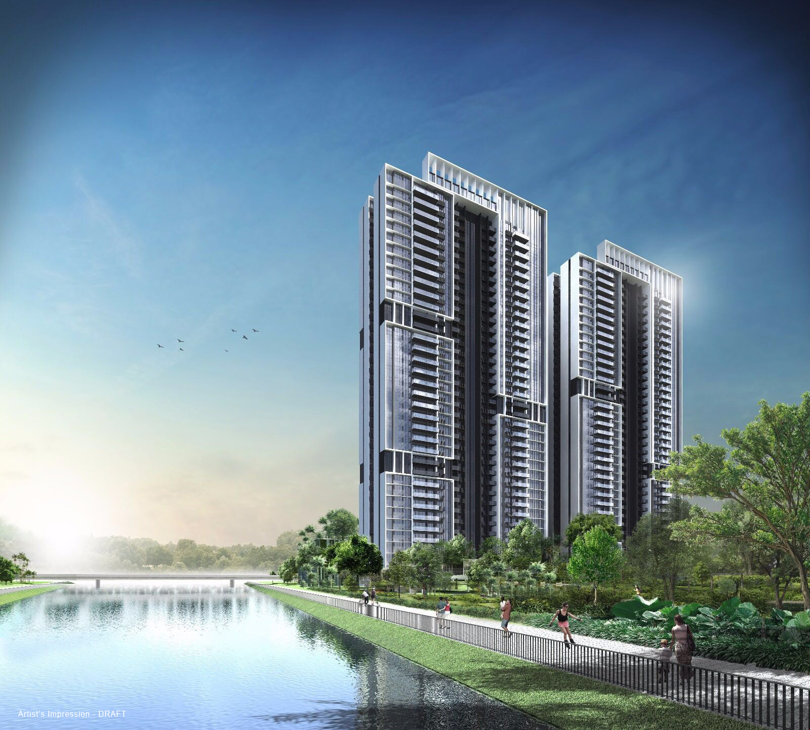 Parc Riviera has 2 towers, 36 storeys each with a total of 752 units. It is located within 1km of the International Business Park and the upcoming High Speed Rail Terminus