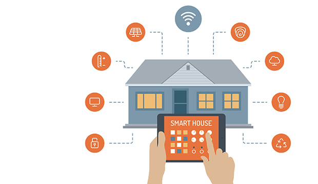 In a smart home, owners are able to control some appliances around their home with their mobile phones