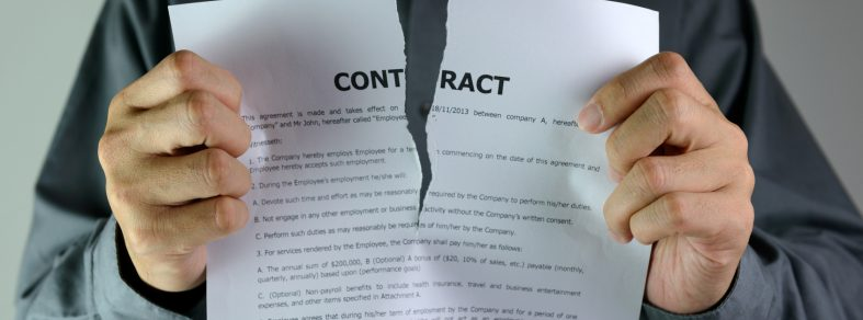 Ripping up a contract