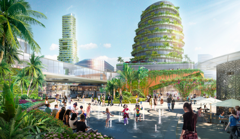Forest City is an upcoming project from Chinese developers, just located off the shores of Singapore