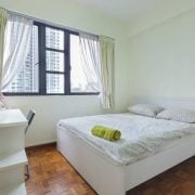 An empty fully furnished room up for rental