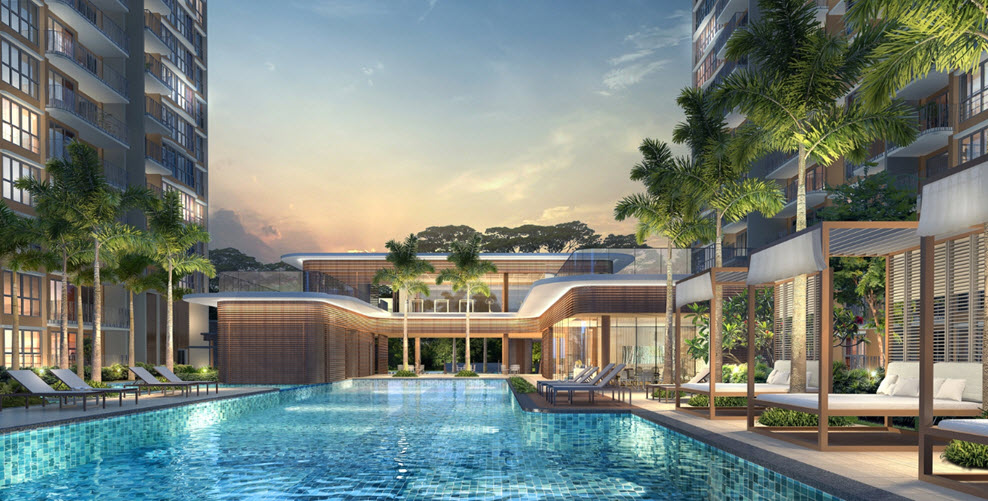 hundred palms residences swimming pool
