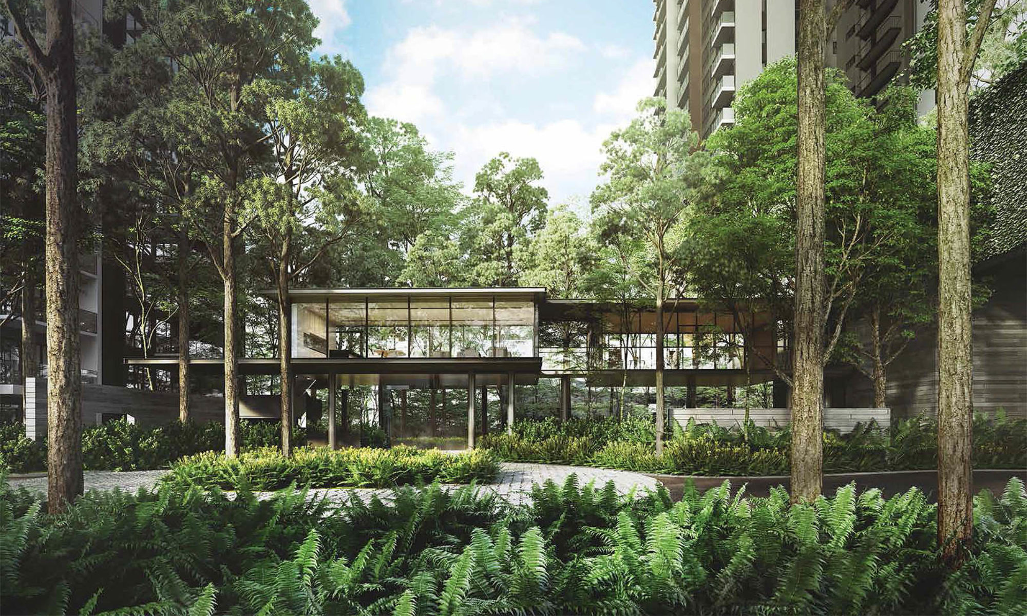 greenery at Hundred Palms Residences