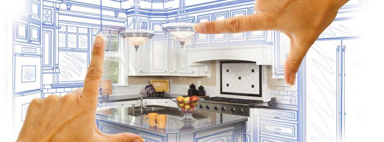 Construction of kitchen illustration