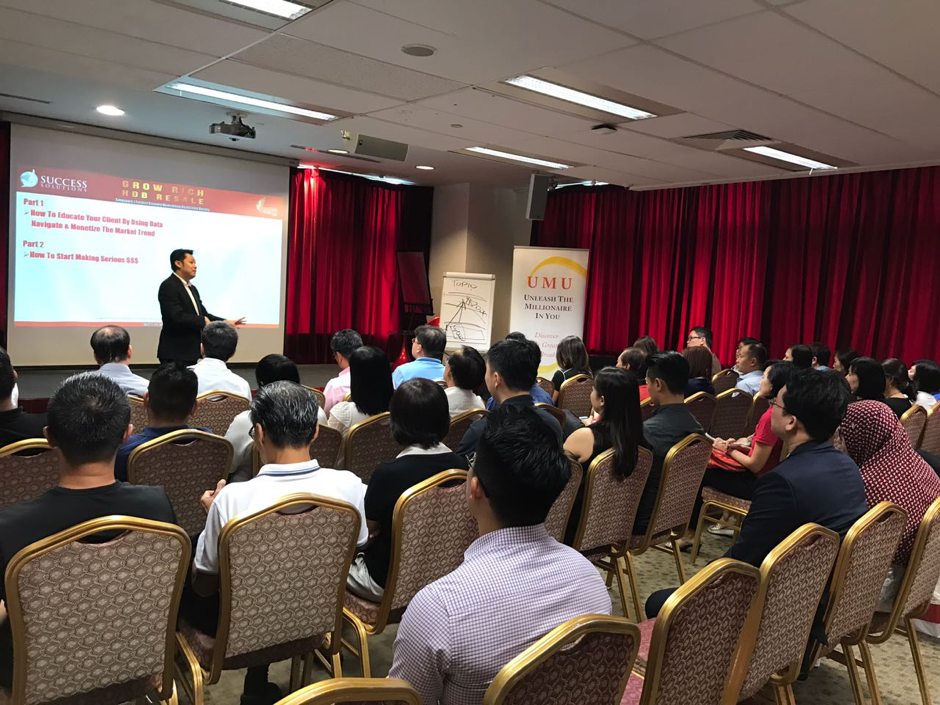 Lewis conducting a HDB resale workshop for property agents