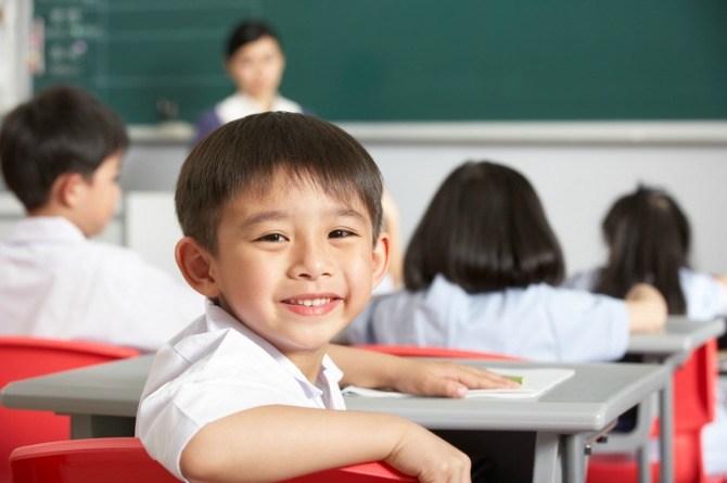 boy at primary school