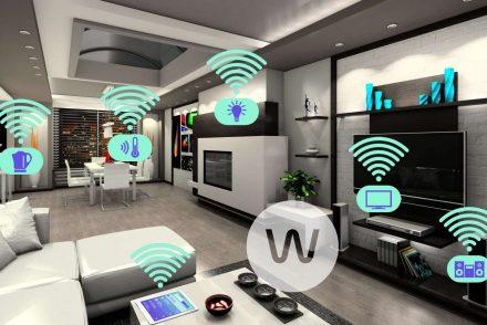 living room full of smart gadgets