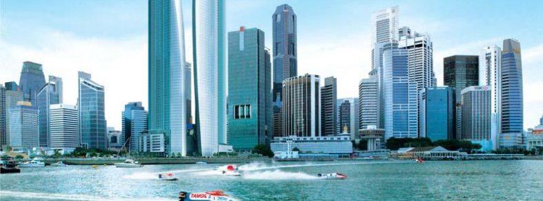 waterside view of singapore