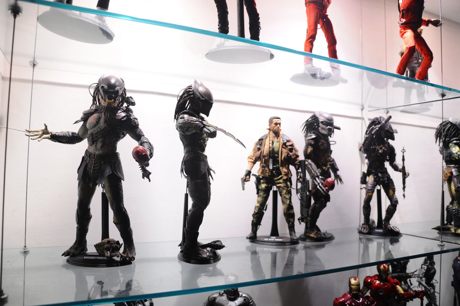 action figures on display