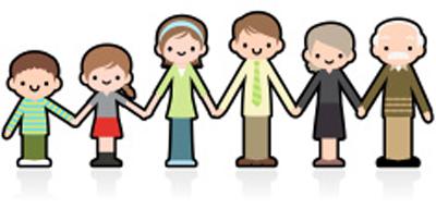 three generations family illustration
