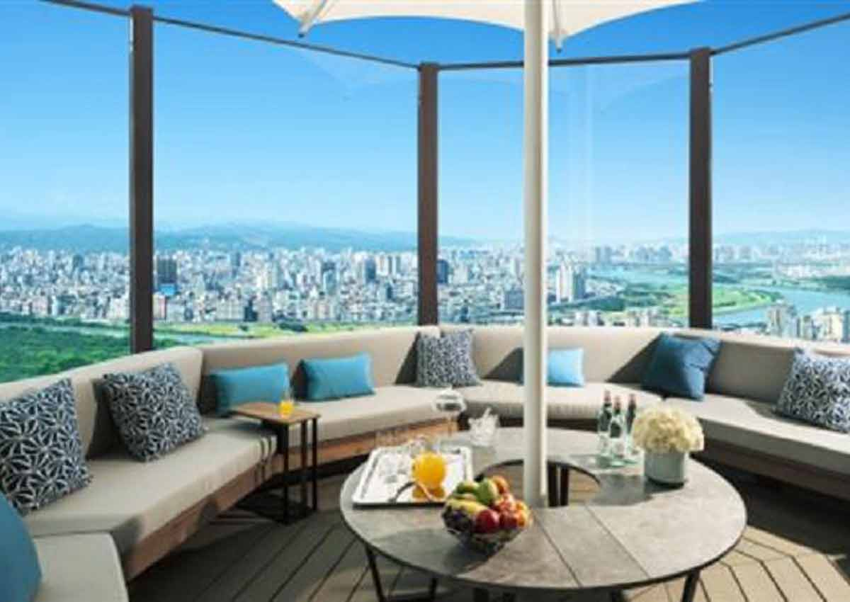 Jay Chou's penthouse gives the resident a panoramic view of Taipei's skyline